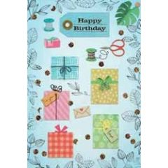 verjaardagskaart - happy birthday to you - cadeautjes garen schaar