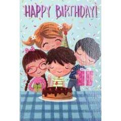 verjaardagskaart pinki - happy birthday - taart