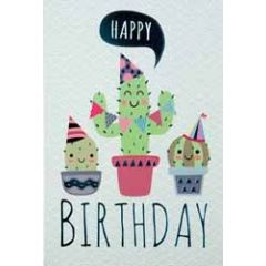 verjaardagskaart - happy birthday - cactussen