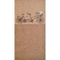 trouwkaart - cadeau envelop - tandem fiets