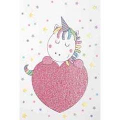 wenskaart - eenhoorn met hart