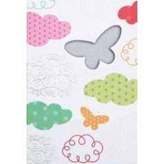 wenskaart - vlinders en wolken