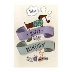 wenskaart pensioen - happy retirement  relax