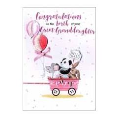 geboortekaart achterkleindochter - congratulations on the birth of your great-granddaughter