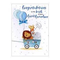 geboortekaart achterkleinzoon - congratulations on the birth of your great-grandson