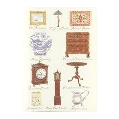 wenskaart clanna cards - antiek kast klok tapijt