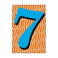7 jaar - verjaardagskaart woodmansterne - blauw