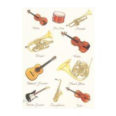 wenskaart clanna cards - muziekinstrumenten