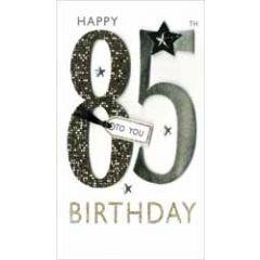 85 jaar - grote luxe verjaardagskaart - happy 85th birthday to you