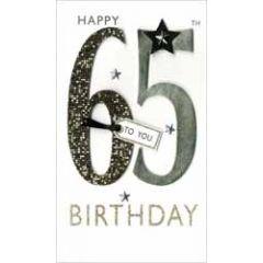 65 jaar - grote luxe verjaardagskaart - happy 65th birthday to you