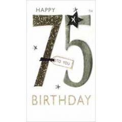 70 jaar - grote luxe verjaardagskaart - happy 70th birthday to you