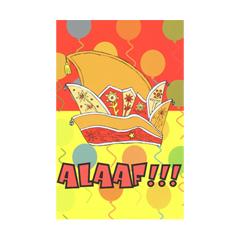 carnavalskaart - alaaf!!! - oranje en geel