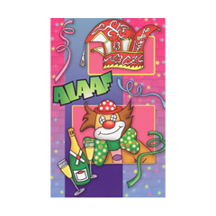 carnavalskaart - alaaf - blauwe streep