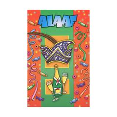 carnavalskaart - alaaf - groene streep