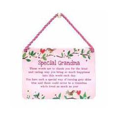 tinnen bordje met quote -hang-ups! - tekstbordje - special grandma