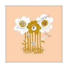verjaardagskaart woodmansterne  - happy birthday to you - bloemen