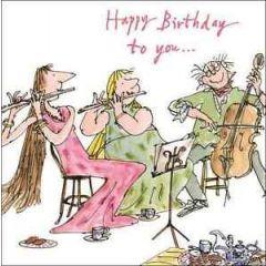 verjaardagskaart quentin blake - happy birthday to you...