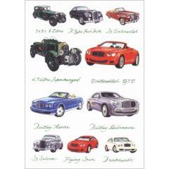 wenskaart clanna cards - bentley azure - continental gtc  - klassieke auto