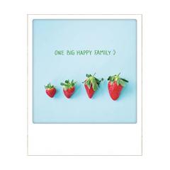 ansichtkaart instagram - one big happy family :)