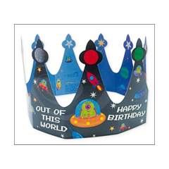Woodmansterne - verjaardagskroontje - happy birthday - ruimtewezens