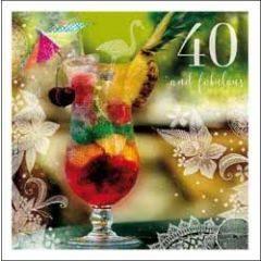 40 jaar - verjaardagskaart woodmansterne - 40 and fabulous