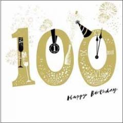 verjaardagskaart woodmansterne - 100 jaar -  100 happy birthday