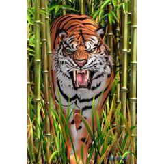 3d ansichtkaart - lenticulaire kaart - tijger en luipaard