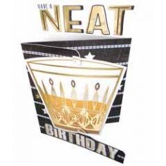 3d verjaardagskaart paper dazzle - have a neat birthday - whiskey