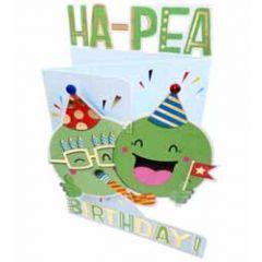 3d verjaardagskaart paper dazzle - ha-pea birthday