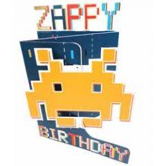 3d verjaardagskaart paper dazzle - zappy birthday