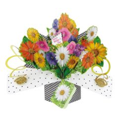 3D moederdagkaart - pop ups - happy mother's day - bloemen