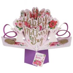 3D moederdagkaart - pop ups - happy mother's day - rozen
