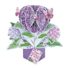 3D moederdagkaart - pop ups - happy mother's day - bloem met vlinders