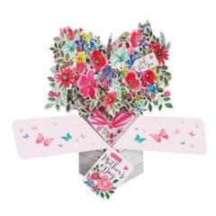 3D moederdagkaart - pop ups - just for you - boeket bloemen