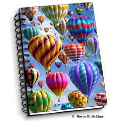 notitieboek 3D - luchtballonnen