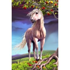 3d ansichtkaart - lenticulaire kaart - paard - horse heaven