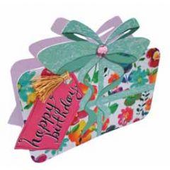 3d verjaardagskaart paper dazzle - happy birthday -  bloemen cadeautje