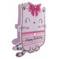3d verjaardagskaart paper dazzle - happy birthday - kat