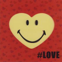 wenskaart 3D - smiley - #love