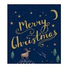 5 kerstkaarten woodmansterne - merry christmas - sterren en maan