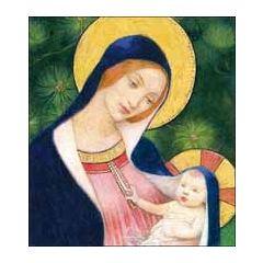 5 christelijke kerstkaarten woodmansterne - maria en jezus