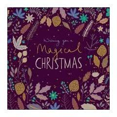 luxe kerstkaart woodmansterne - wishing you a magical christmas