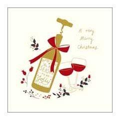 luxe kerstkaart woodmansterne - a very merry christmas - wijn