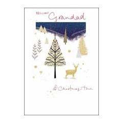 luxe kerstkaart woodmansterne - brilliant grandad at christmas time