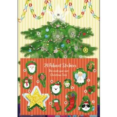 adventskalender A4+ met stickers - kerstboom