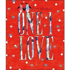luxe kerstkaart woodmansterne - Merry Christmas - One I Love