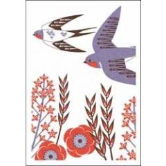 wenskaart  woodmansterne - zwaluw