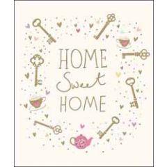 grote wenskaart nieuwe woning van woodmansterne - home sweet home
