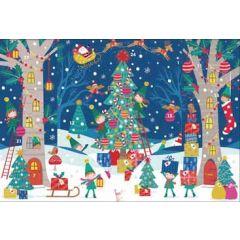 adventskalender a4+ om neer te zetten - kinderen vieren kerst