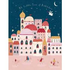 adventskalender a3 met envelop - oh little town of bethlehem